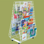 Double Sided Mobile Book Rack